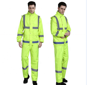 cheap China factory directly wholesale safety high visibility safety rain coat