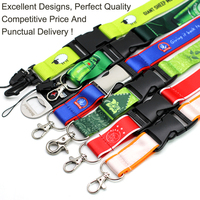 Promotional Wholesale Cheap Custom Logo Neck Nylon Sublimation Heated Transfer Printing Polyester Lanyard With Id Card Holder