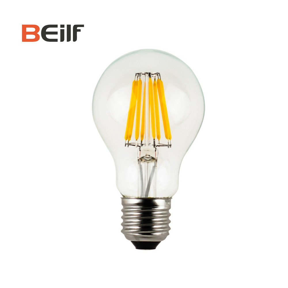 2018 Best Seller 8W A60 2700K Non-Flicker LED Filament Bulb <strong>E27</strong>