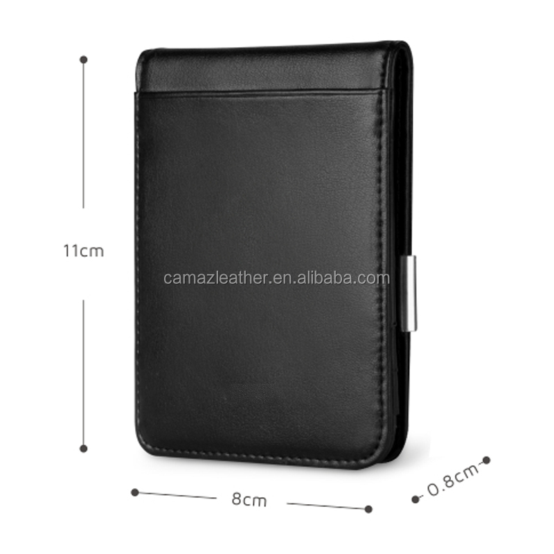 Factory Price Genuine Leather Brand Men Wallet With Money Clip, Logo is ok