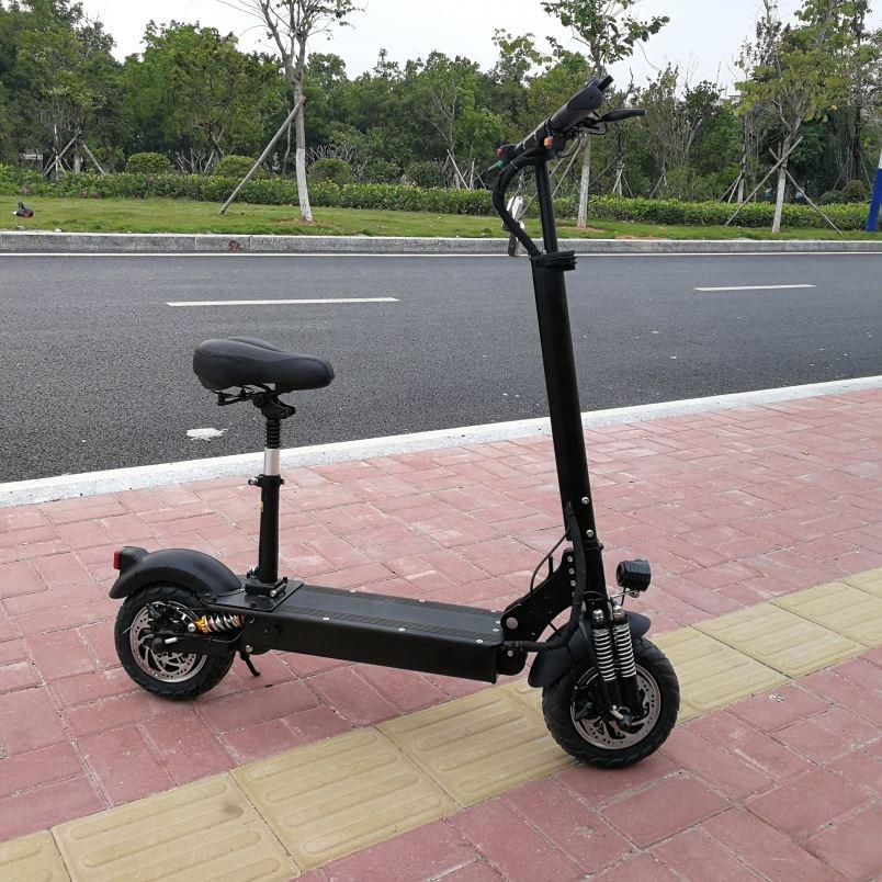 Best Quality China Manufacturer Electrico Elektro Scooter 52V 2400W 48V 1000W, Black