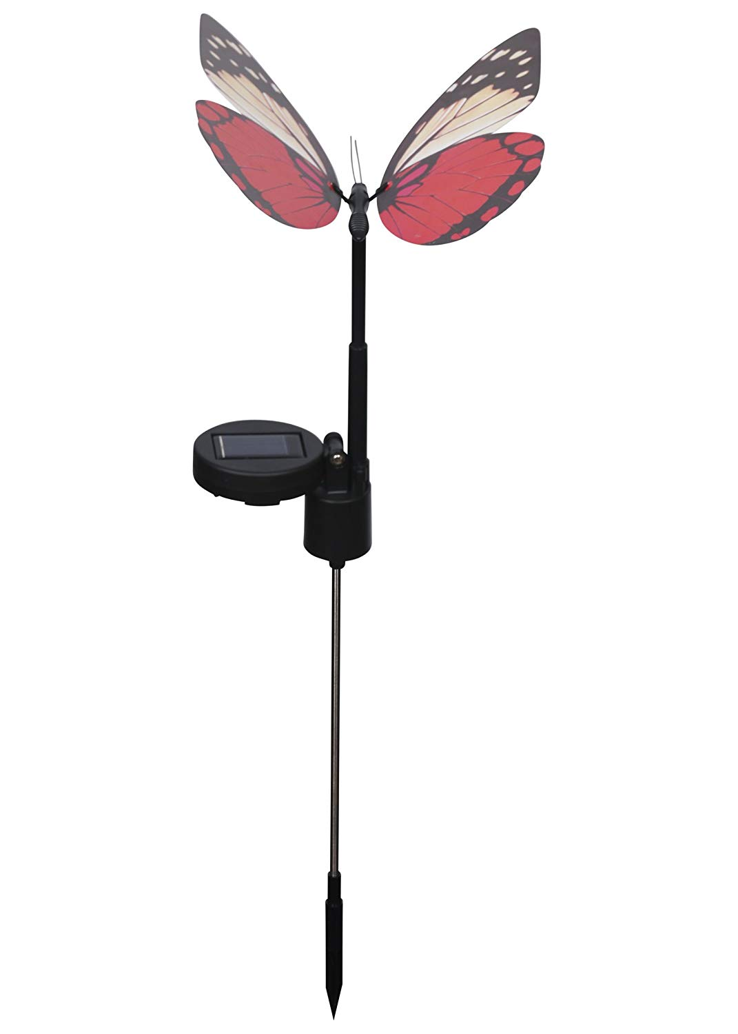 Russco III GS133861 Solar Powered Flapping Garden Stake, Pink Butterfly