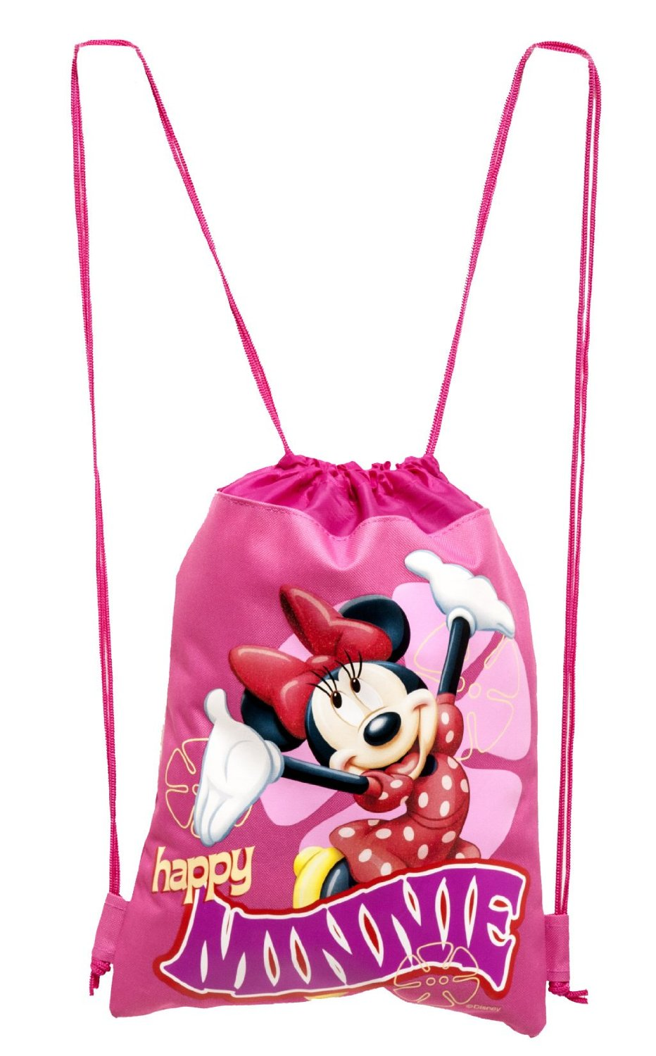 Disney Minnie Mouse Hot Pink Drawstring Backpack