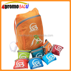 Promotional small camping backpack usniex gifts bag