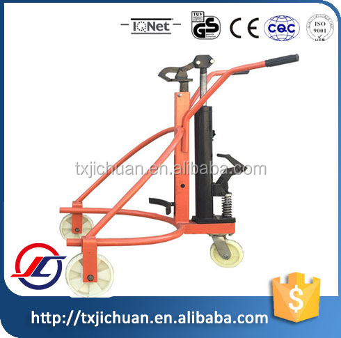 Red Hydraulic Oil Drum Pallet Truck/ Tolley/ Lift Price