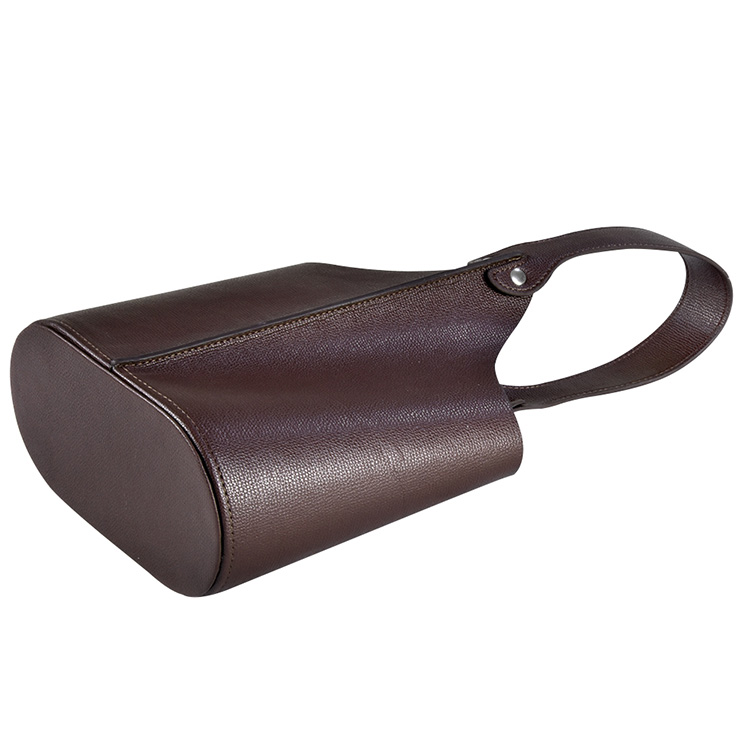 Manufacturers custom high quality tote gift packing box faux leather wine bag