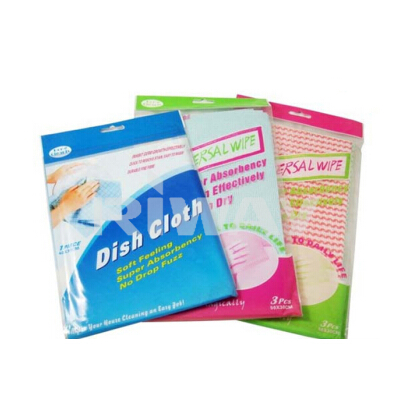 multi-purpose cleaning wipes, Assorted Wave Printing Cleaning Wipes/Rags For Kitchen