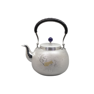 Silver unique fireplace unique tea water kettle from Japan