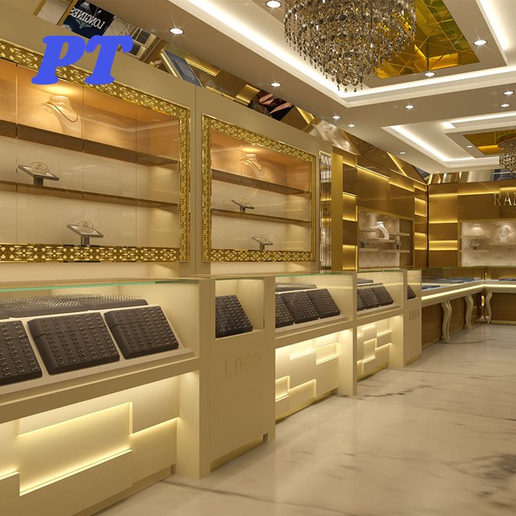 Luxury Gold Shop Interior Furniture Design Ideas Latest Jewellery Showroom Design Buy Latest Jewellery Showroom Design Jewellery Showroom Furniture Design Interior Design Ideas Jewellery Shops Product On Alibaba Com