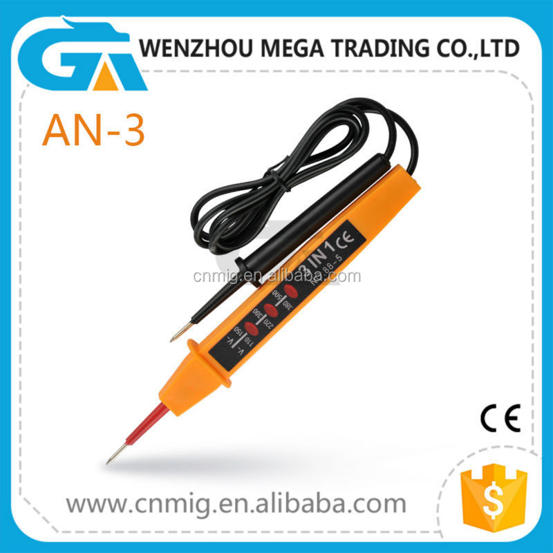 Approved CE Two-Pole Voltage Tester, Multi-Function Circuit Tester