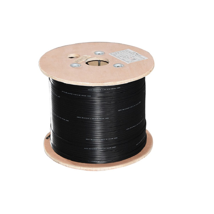 Wholesale indoor outdoor single mode g657a2 fiber 1 2 4 6 8 core drop wire ftth cable fiber optic with messenger wire