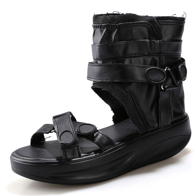 2015 New Women Sandals Shoes Platform Gladiator Sandals Summer Breathable Woman Ladies Shoes Sandalias Mujer Black Size 35-39