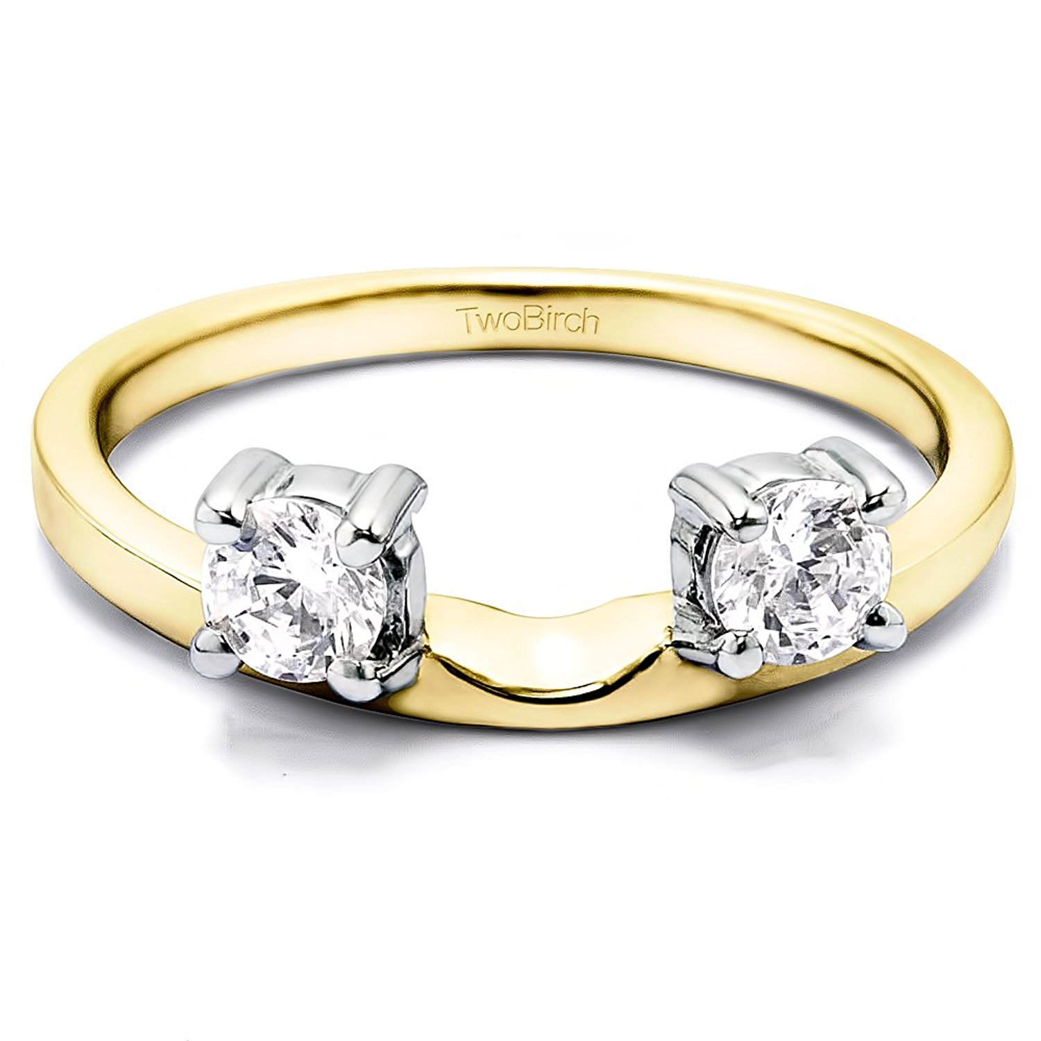 Rose Gold Plated Silver Wedding Band Black Cubic Zirconia Size 3 to 15 in 1//4 Size Intervals 0.42Ct