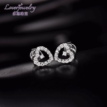 Custom design 18k gold jewellery 1ct diamond earrings natural genuine diamond stud earrings photo