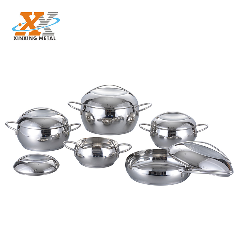 10 Pcs Stainless Steel Apple Shape Cookware Set
