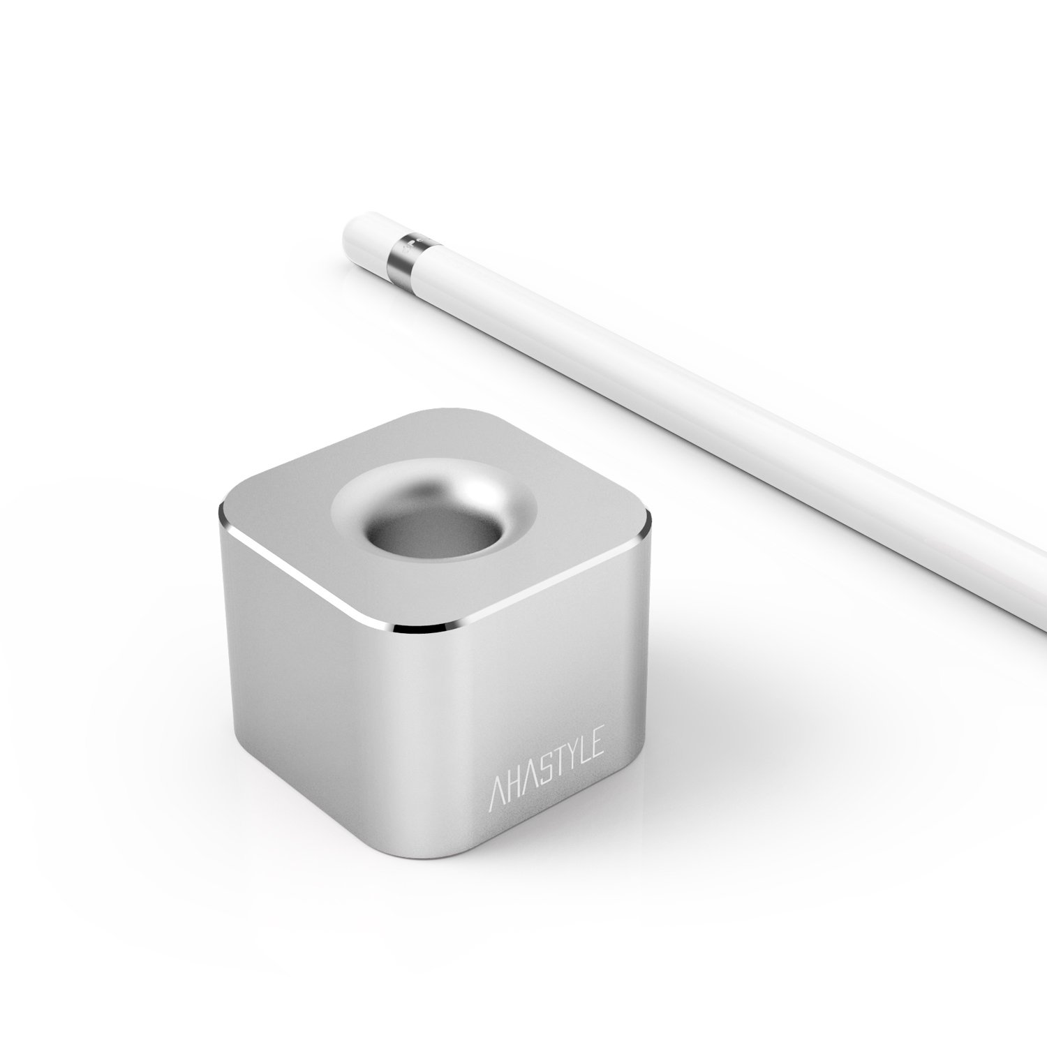 Apple Pencil Stand,AhaStyle Premium Solid Aluminium Stylus Stand for iPad Pro Pencil.(Silver)
