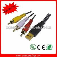 USB Audio Interface USB To RCA Cable