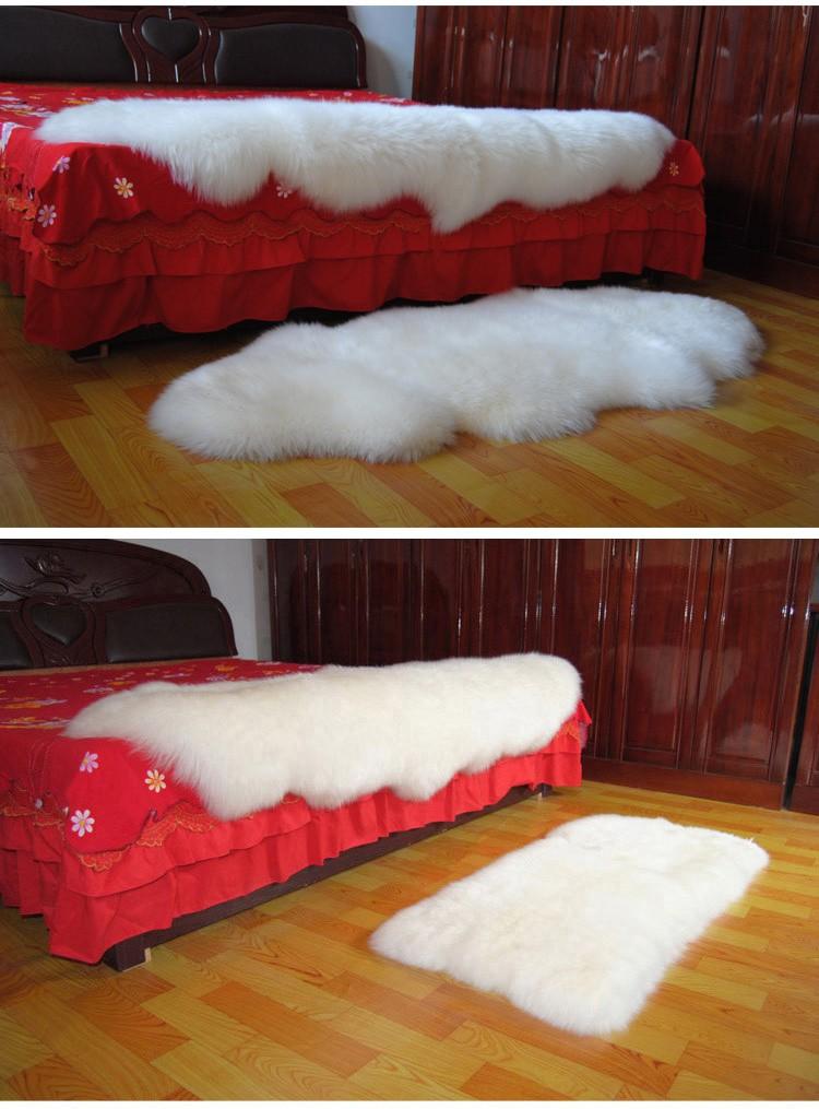 Australian Long Lamb Wool Fur Carpet Sofa Cushion Sheepskin Rug Multi Color  For Hotel Bedroom Car