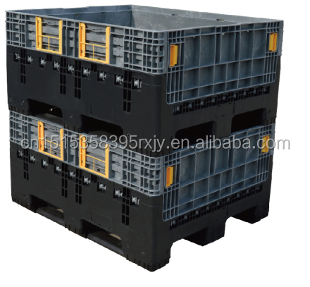 Large Plastic Pallet Container Collapsible Crate Bulk
