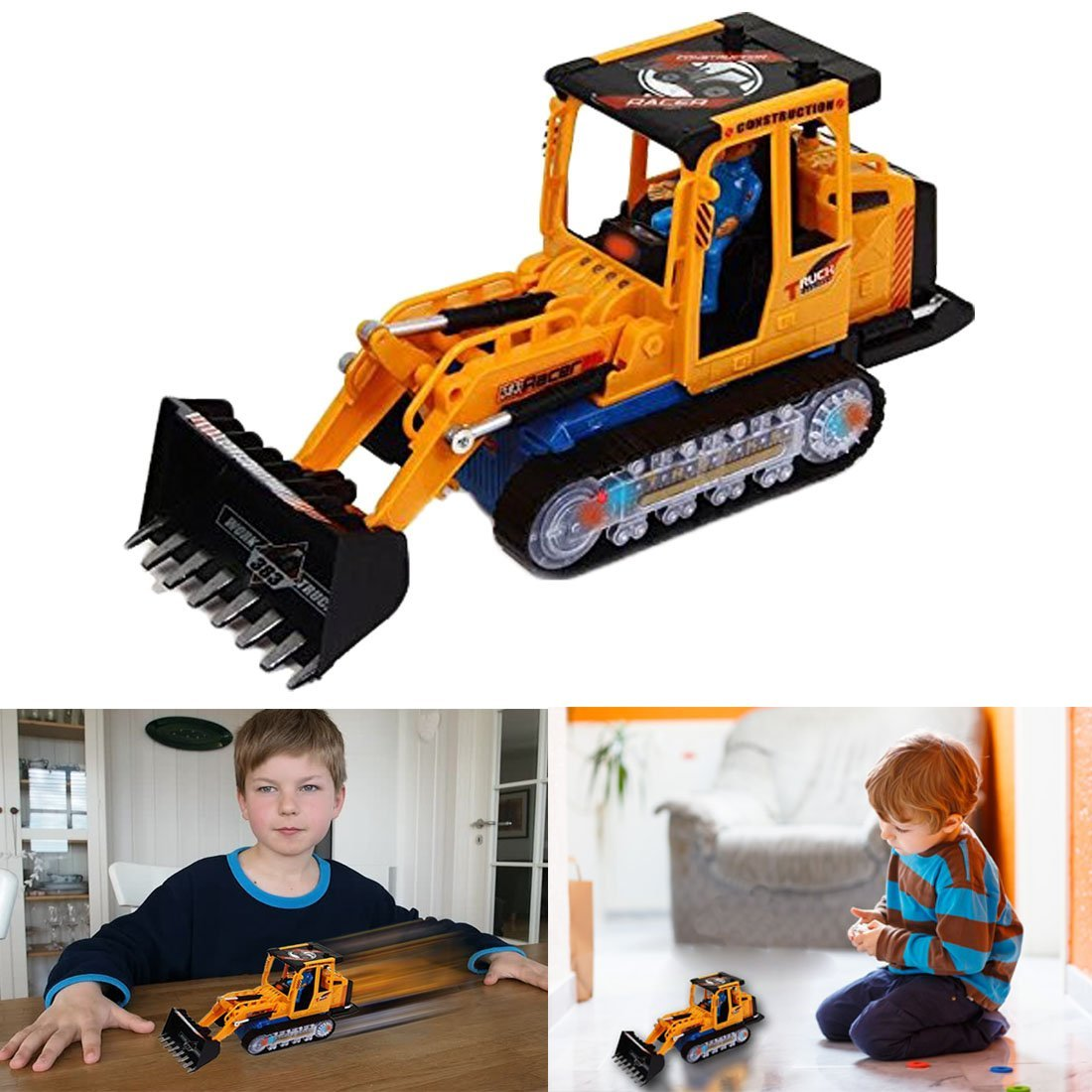 Dazzling Toys Bruder Construction Loader Truck Battery Operated Riding Tractor