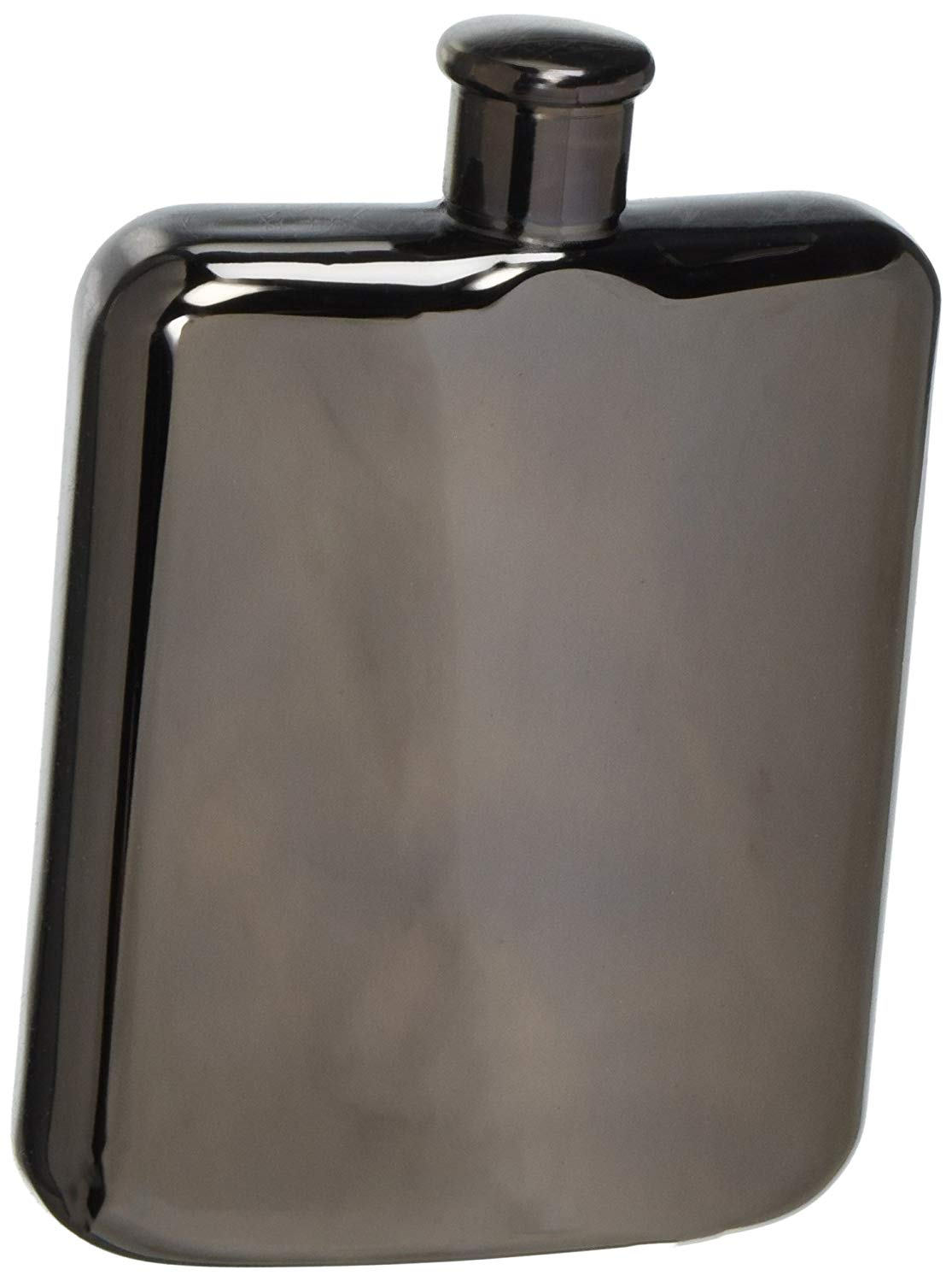 Oggi Plated Stainless Steel Mirror Finish Hip Flask, Silver