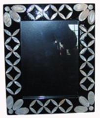 High quality lacquer MDF Photo Frame with MOP decorative for home decoration