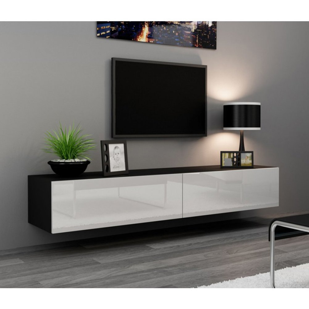 Seattle TV Stand   High Gloss White TV Stand / European Design Hanging  Furniture / Entertainment