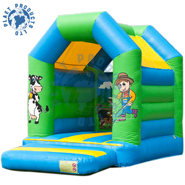 Happy farm style inflatable mini bouncer, funny and attractive jumper