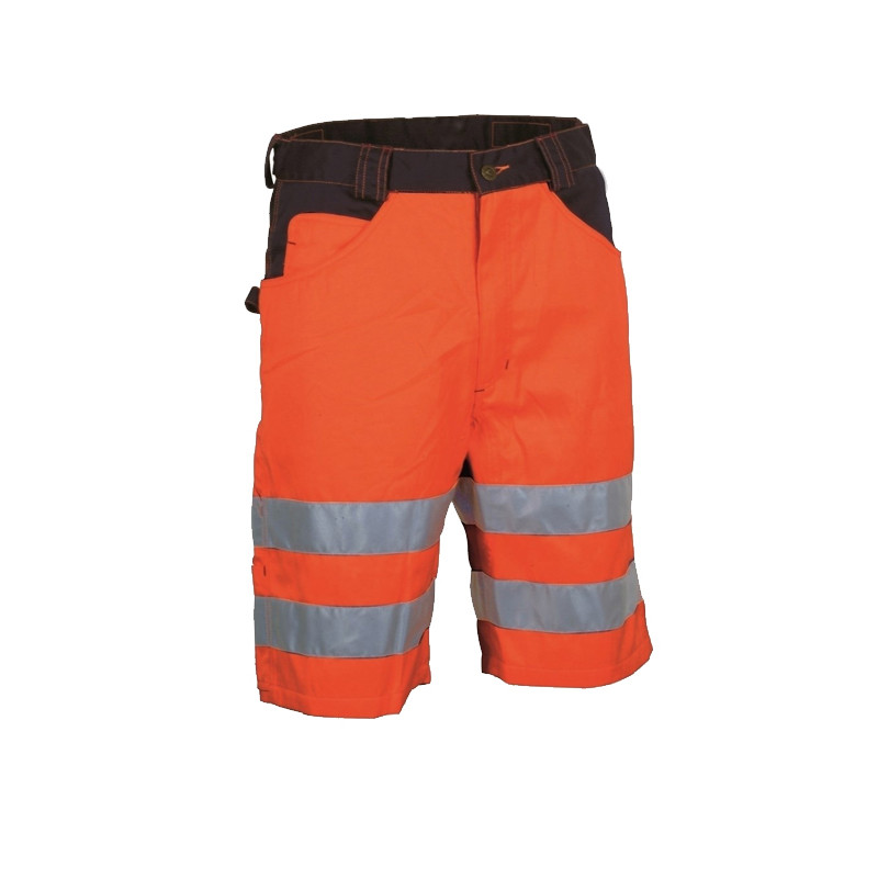 shenzhen hi vis garment reflective <strong>orange</strong> work short pants