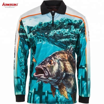 Wholesale sublimation printed cheap long sleeve cool dry fishing shirts