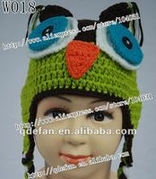 Free shipping hand knitted baby hat baby animal caps 2012 fashion winter hats for children knitting kids gift 1-2YEAR baby hats