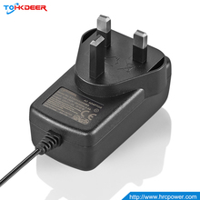 Level VI UL FCC small power supply 24w ac power adapter for led