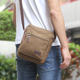Mens Casual Blank Canvas Crossbody Messenger Sling Shoulder Bag