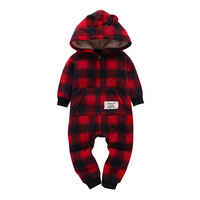 Christmas Winter Baby Boy girls romper baby Clothes Cotton Newborn toddler Clothes Infant warm clothing one piece