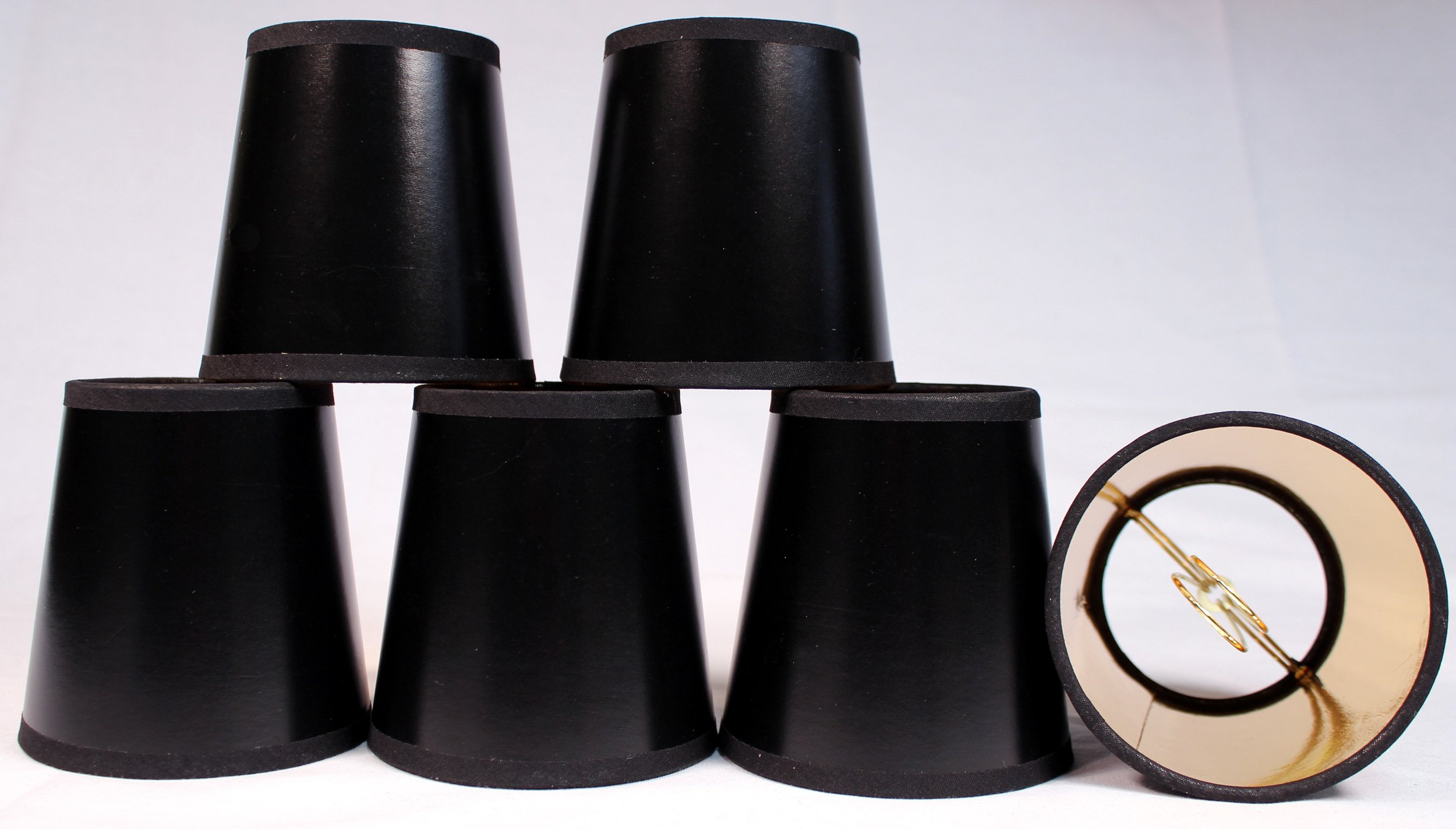 Cheap paper lamp shades find paper lamp shades deals on line at get quotations creative hobbies black parchment paper chandelier lamp shades with gold paper liner 4 aloadofball Choice Image
