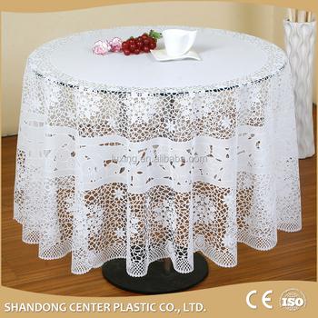 Moda y becautiful y dulce mantel ganchillo mesa redonda pvc tela zt 306 182 cm redondo buy - Manteles mesas grandes ...