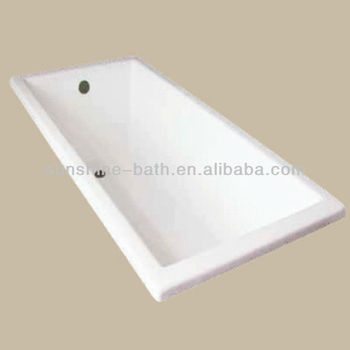 Popular Square Deep Cast Iron Bathtub Used For Sales SW 009, Hot Sell
