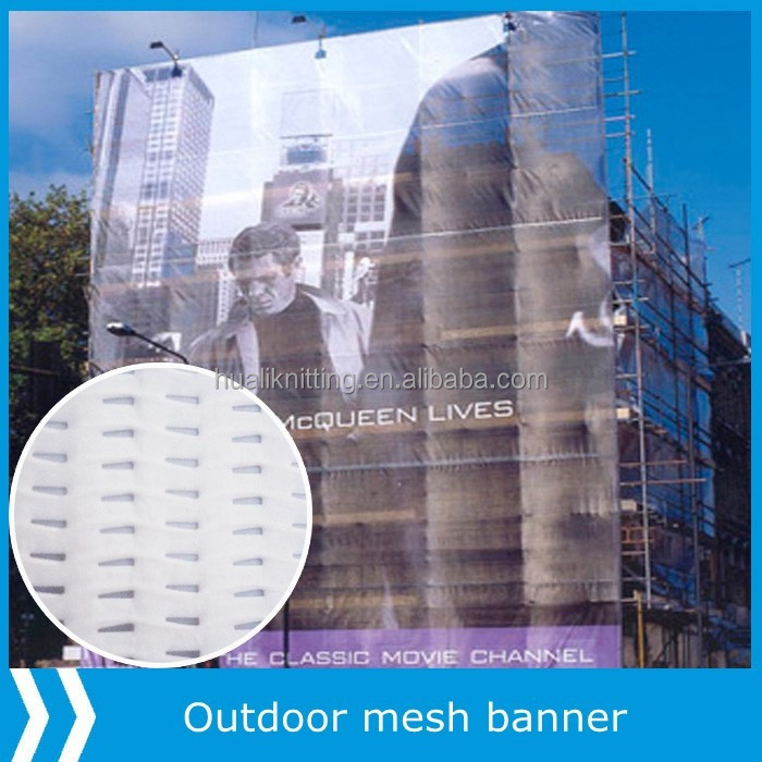 PVC mesh fabric for building protection with fire against