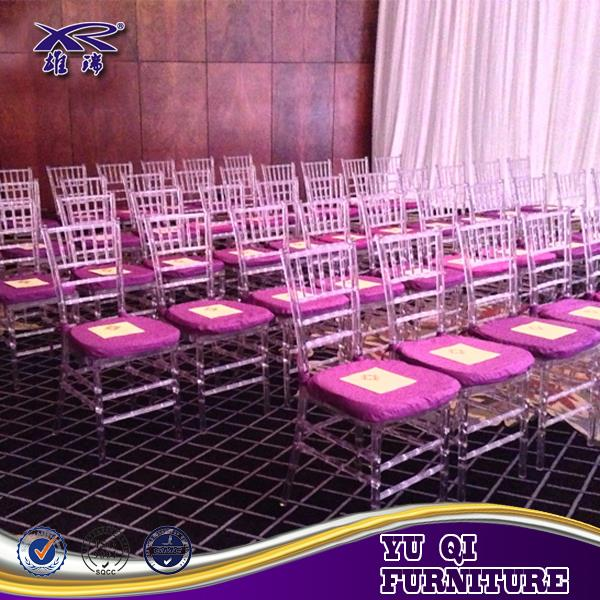 clear crystal transparent PC Resin Plastic party hotel wedding event banquet rental chiavair chair