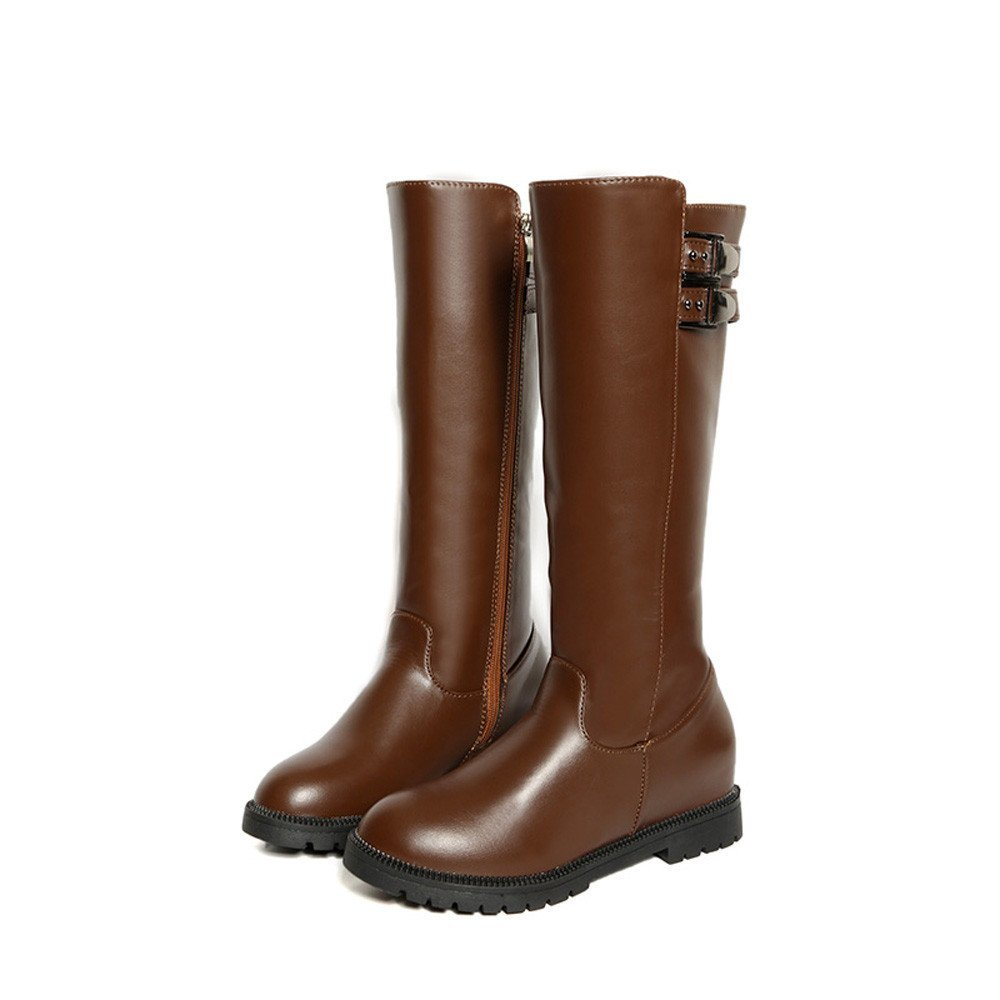 89f4c1e67d2 Get Quotations · KaiCran Knee High Boots Winter Womens Thigh High Boots Over  The Knee Boot Increased Flat Heels