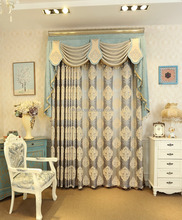 New products most popular ready made natural style chenille curtain