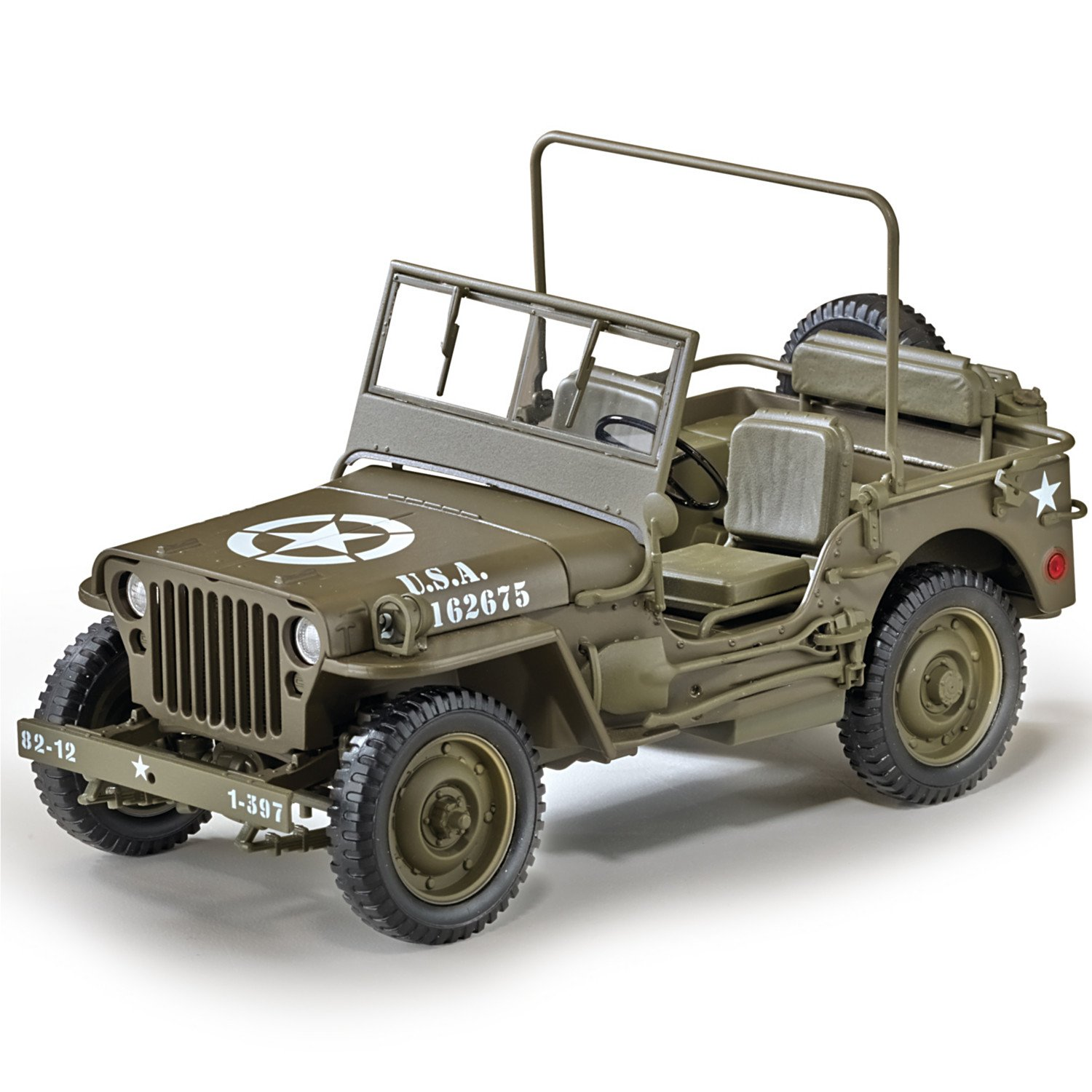 Cj2a Willys Jeep Headlight Wiring Cheap Army Find Deals On Line At Get Quotations 118 Scale Diecast Replica Of The World War Ii 1 4
