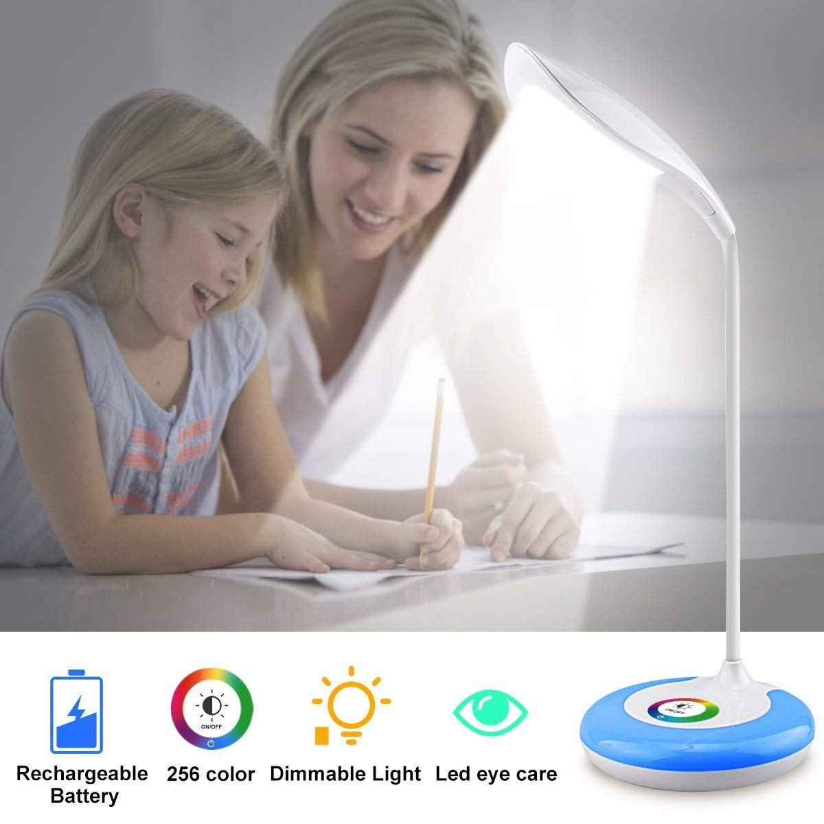 Led Table Lamps Lights & Lighting Reasonable A Variety Of Animation Cartoon Led Learning Nightlight Foldable Rechargeable Eye Care Home Bedroom Study Eye Care Lamp