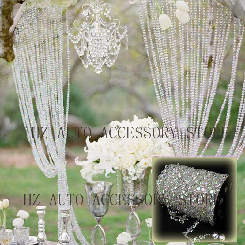 99 ft Clear Crystal Garland Acrylic Bead Centerpieces Hanging Curtain for Wedding,Birthday,Party Christmas Tree Decorations DIY Home Yard Doorways Decoration