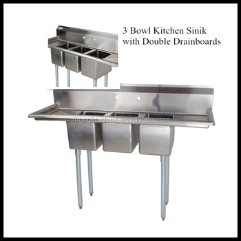 Commercial Kitchen Sinks 3 Compartment : ... Compartment - Buy Stainless Steel Kitchen Sink,Commercial Sink,Sink