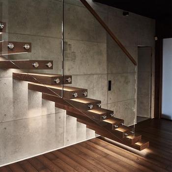 Diy Diseo Interior Madera Recta Escaleras Flotantes Con 50mm Madera