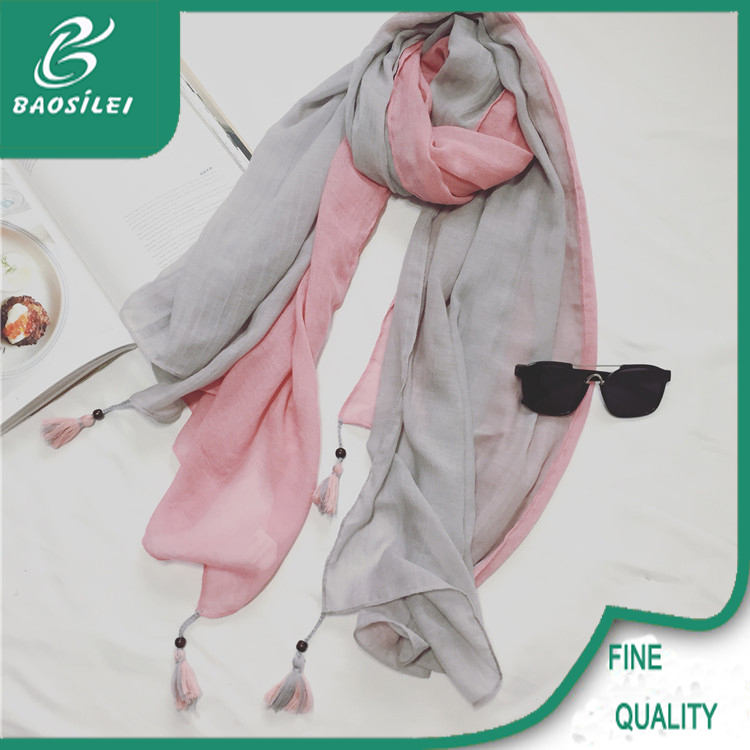 China manufacturer twill silk ombre pashmina scarf for ladies