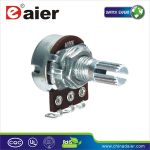16K4 single short shank 100k rotary potentiometer with switch