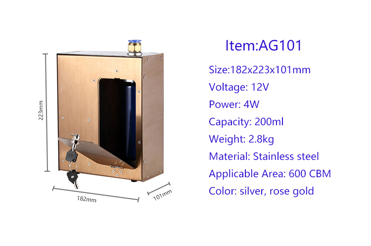 Newest design stainless steel material aroma oil scent diffuser machine for middle area