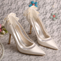 23 Colors Wholesale Bridal Wedding Shoes White